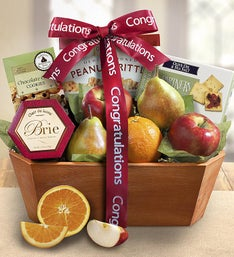 Congratulations from the Orchard Fruit Gift Basket