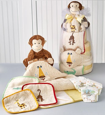 Jungle Friends Baby-Cakes Diaper Cake Tower