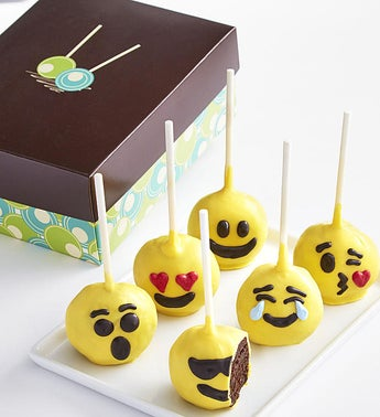 Emoticon Truffle Cake Pops