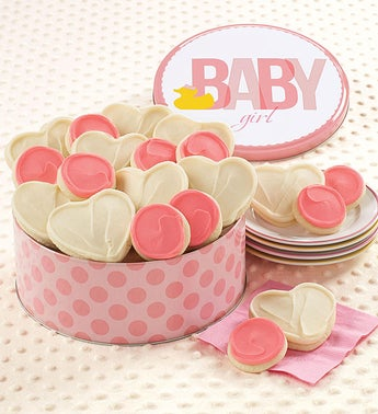 Cheryls Baby Girl Ducky Cookie Tin