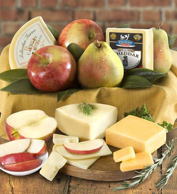Fresh Fruit  Cheese Gourmet Gift Box