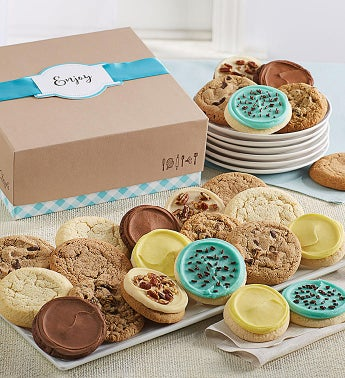 Cheryls Cookie Gift Boxes with Message Tag - 24 Cookies