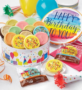 Birthday Gift Tin  Frosted Assortment