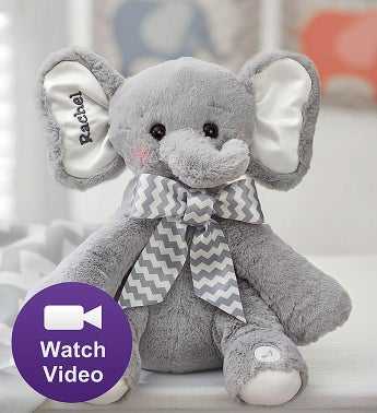 Bearington Animated Personalized Elephant