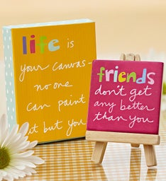 Friendship Keepsake Canvas