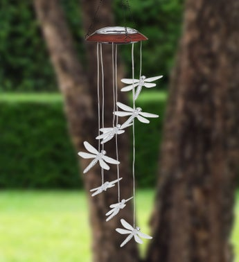 Solar Color Changing Dragonfly Chime