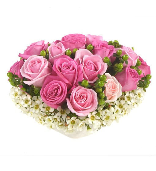 Centerpiece of Pink Roses
