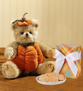 Bearington Fall Pumpkin Bear with Cheryls Cookies