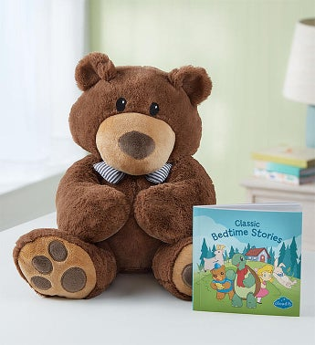 Story Time Animated Huxley Bear and Book