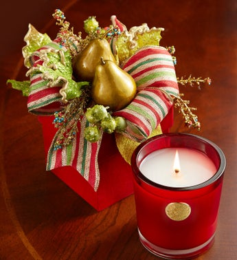 Lux Pear Glace Holiday Candle