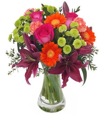 Florist design - A bouquet in mixed colors