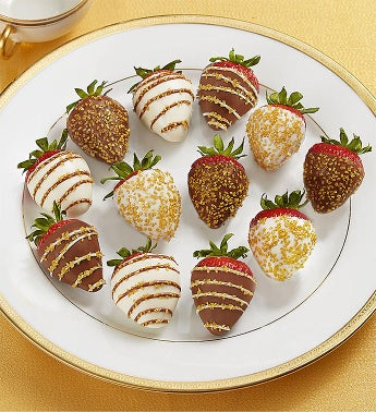 Gold Sparkle Strawberries