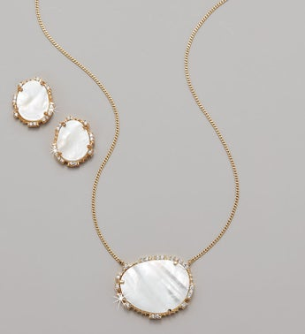 Serefina Statement Stone Mother of Pearl Jewelry