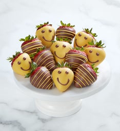Strawberry Smiles Dipped Strawberries