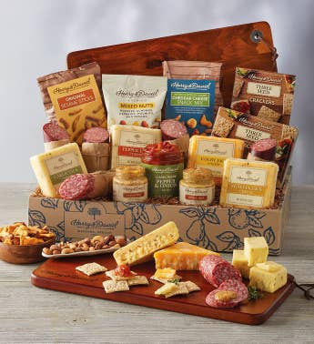 Ultimate Meat and Cheese Gift Box with Acacia Board
