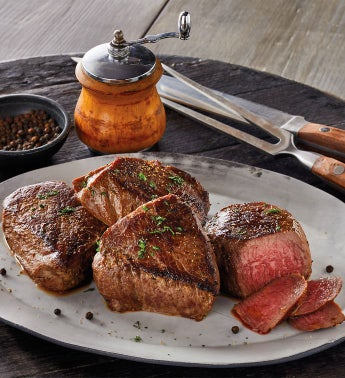 Bourbon-Peppercorn Marinated Steaks Four-Pack