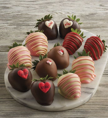 Valentine39s Day Hand-Dipped Chocolate-Covered Strawberries - One Dozen