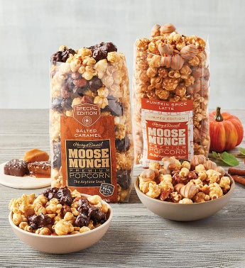 Moose Munch® Premium Popcorn Duo - Salted Caramel and Pumpkin Spice Latte Mix