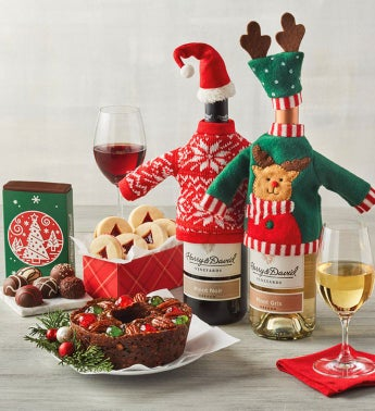 Christmas Sweater Wine Gift