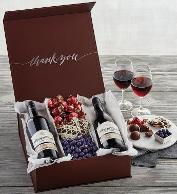 Deluxe Thank You Gift with Wine