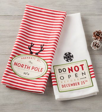 Santa's Workshop Towels – Set of 2