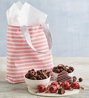 Pink Stripes Tote Gift