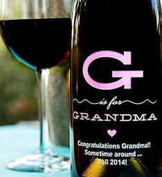 G is for Grandma Personalized Wine Bottle