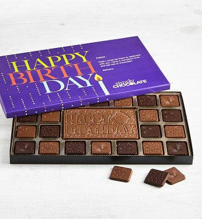 Simply Chocolate Happy Birthday Personalized Box