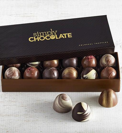 Simply Chocolate Colossal Truffles  12pc
