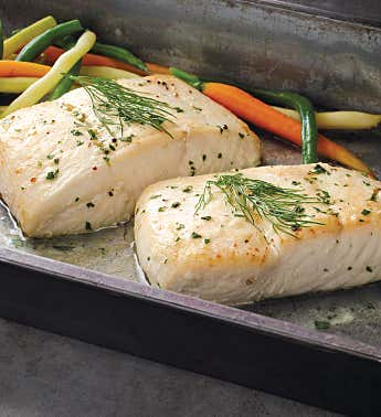Alaskan Halibut Filets - Six 10-Ounce