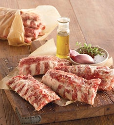 Uncooked Baby Back Pork Ribs  Eight Ounce Half Slabs