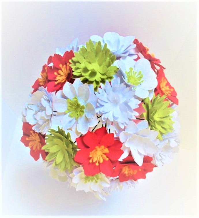 Holiday Seeded Paper Flower Bouquet