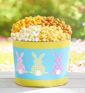 Colorful Cottontails Popcorn Tins