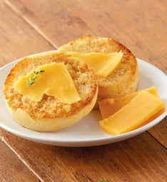 Cheddar Cheese Super-Thick English Muffins